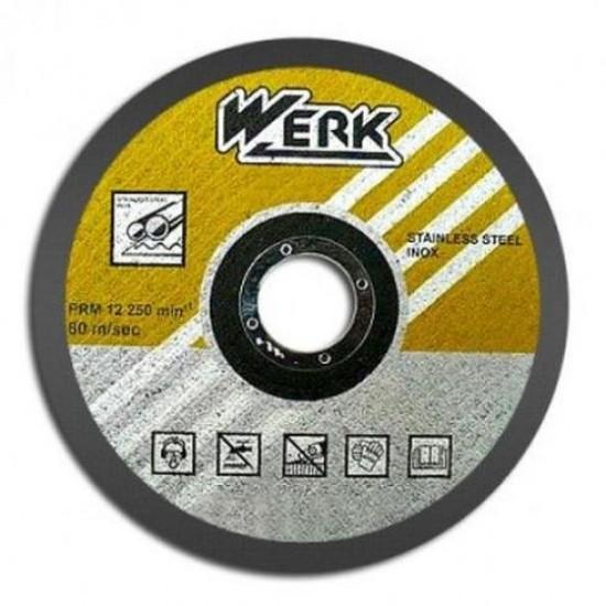 Відрізний круг по металу та нержавіючій сталі 230х2,0х22,2 WERK (WE201110)