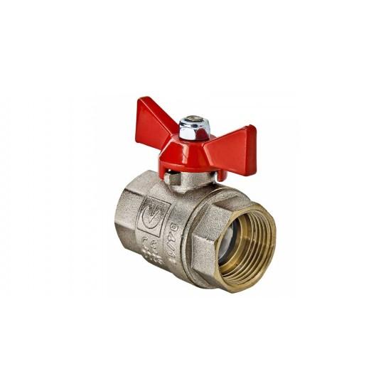 Кран шаровий ВВ 15(мет) вода RS