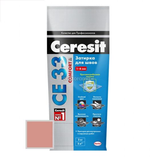 Затірка для швів плитки колір клінкерний Ceresit CE 33 Plus (Церезіт СЕ 33) 134 2 кг