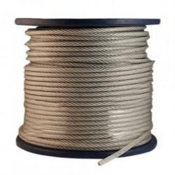 Трос сталевий, оцинкований, в П.Е оболонці 4,0х5,0