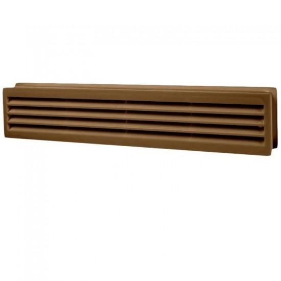 ДВ 430/2 коричнева  гратка вентиляційна пластикова